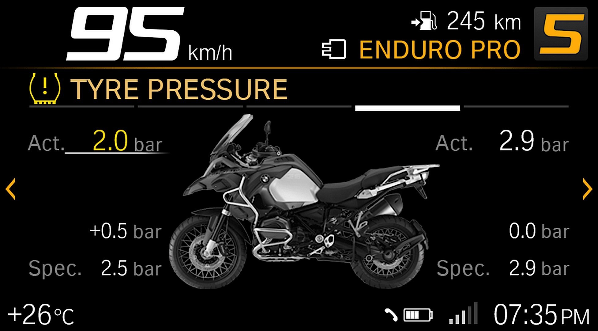 bmw motorrad shows new connectivity 65 inch tft display 10