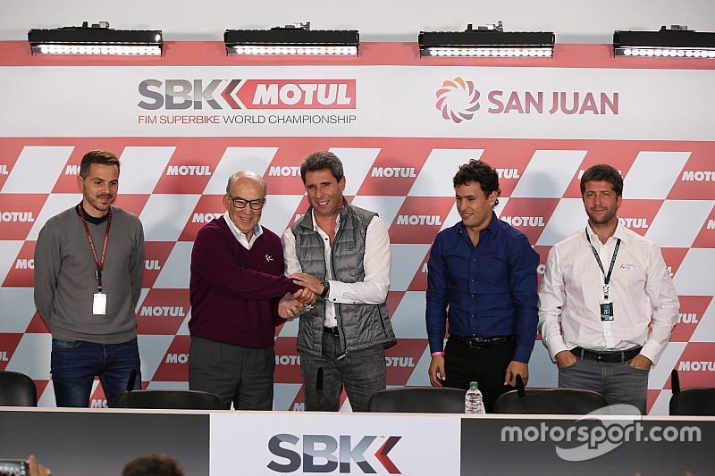 wsbk wsbk announcement 2017 carmelo ezpeleta dorna group ceo and orly terranova ceo of osd