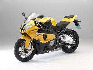 motori bmw s1000rr yellow front side wallpaper - 1600x1200